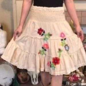 Embroidered skirt by Joystick